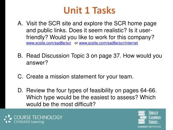 Unit 1 Tasks