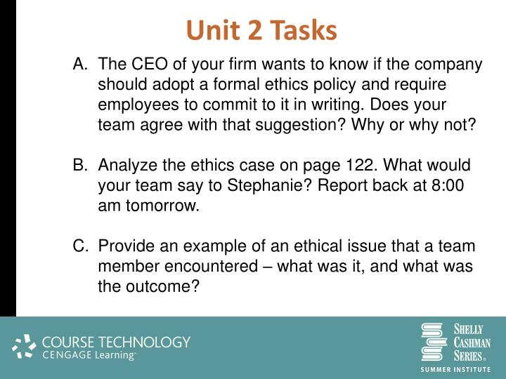 Unit 2 Tasks