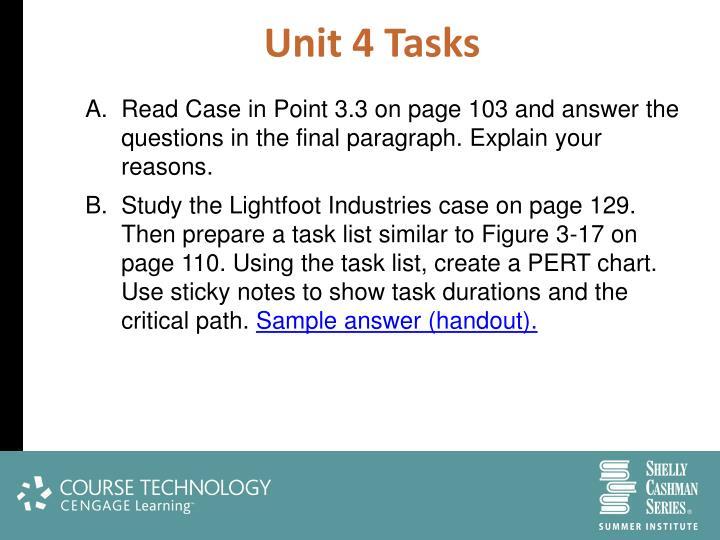 Unit 4 Tasks