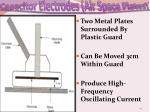 capacitor electrodes air space plates