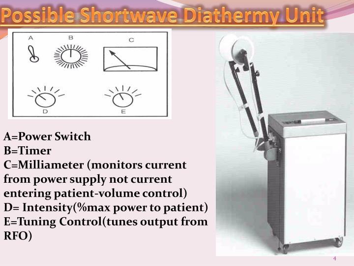 Possible Shortwave Diathermy Unit