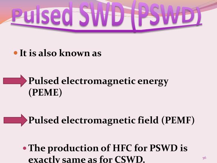 Pulsed SWD (PSWD)