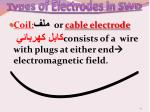 types of electrodes in swd2