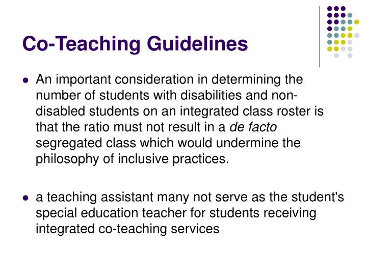 Co-Teaching Guidelines