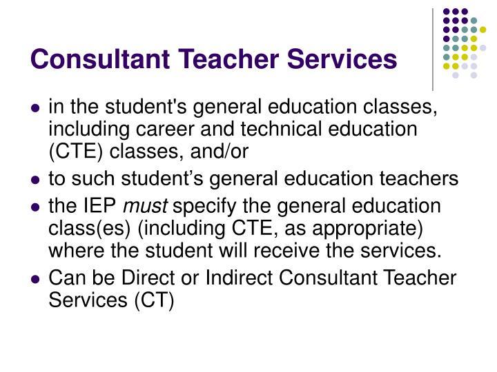 Consultant Teacher Services