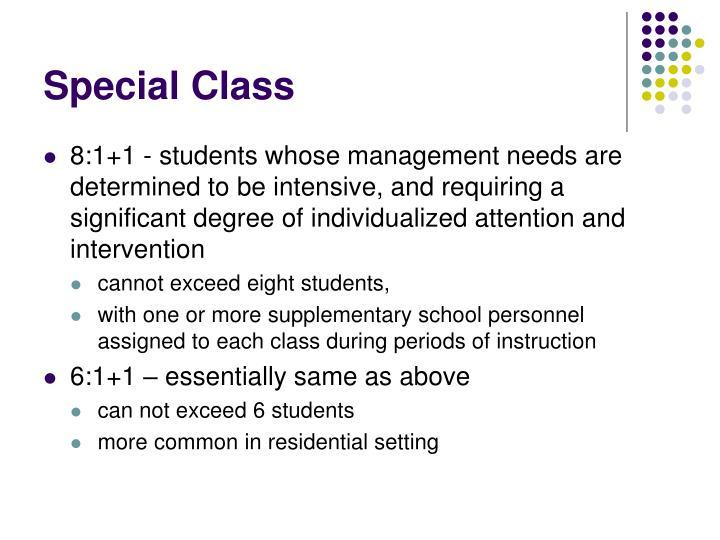 Special Class