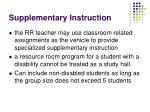 supplementary instruction