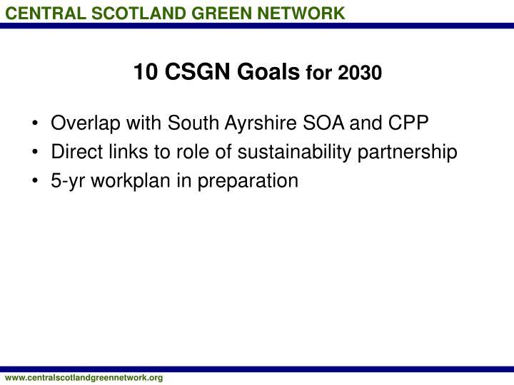 10 CSGN Goals
