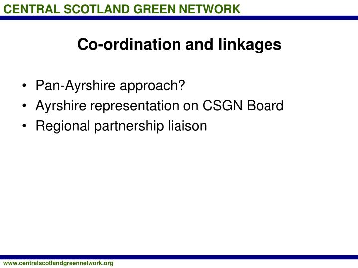 Co-ordination and linkages