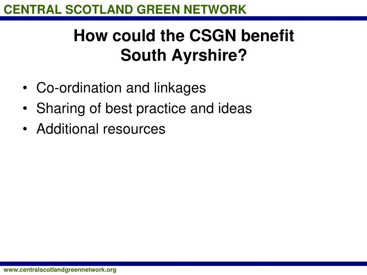 How could the CSGN benefit