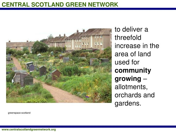 to deliver a threefold increase in the area of land used for