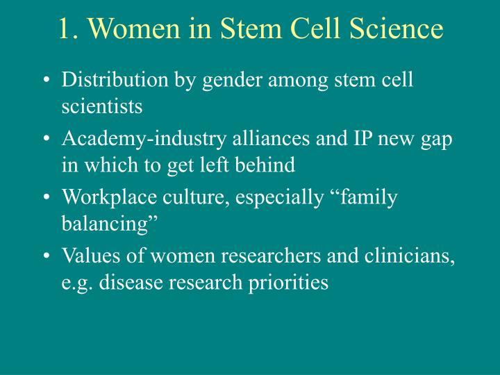 1. Women in Stem Cell Science
