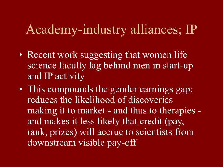Academy-industry alliances; IP