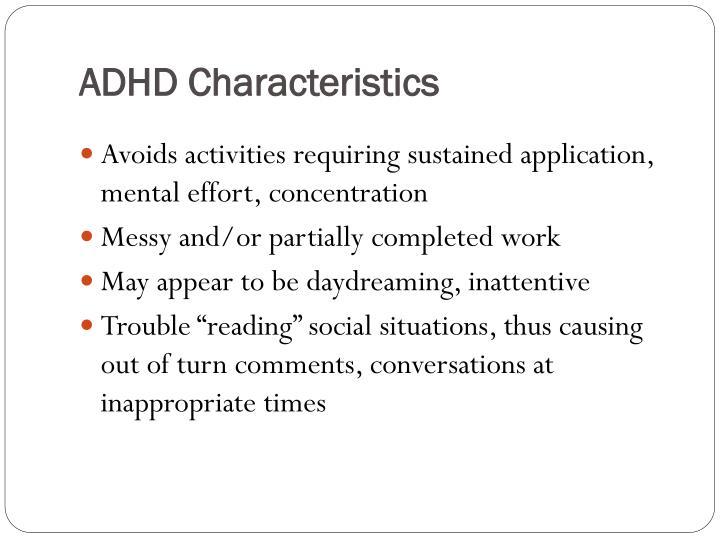 ADHD Characteristics