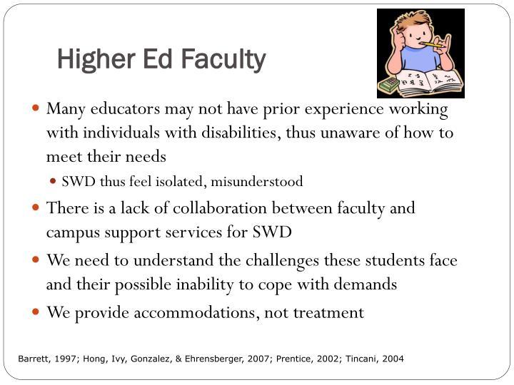 Higher Ed Faculty