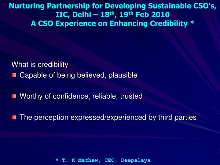 What is credibility –