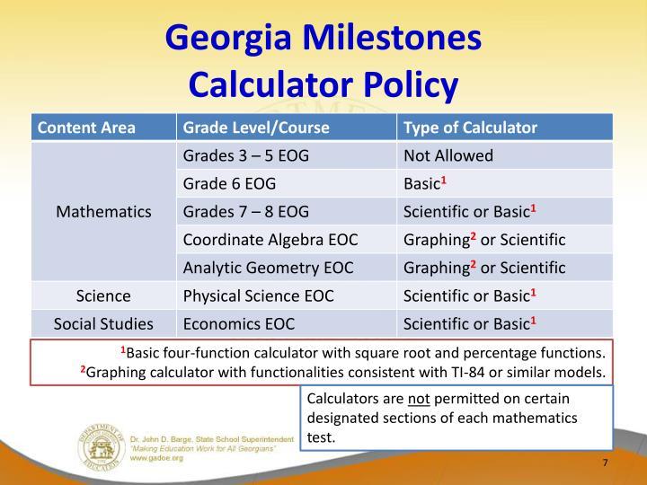 Georgia Milestones