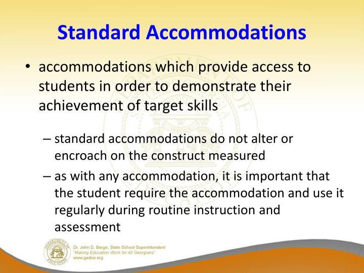 Standard Accommodations