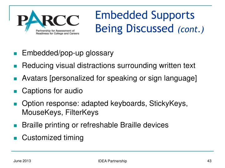 Embedded Supports Being Discussed