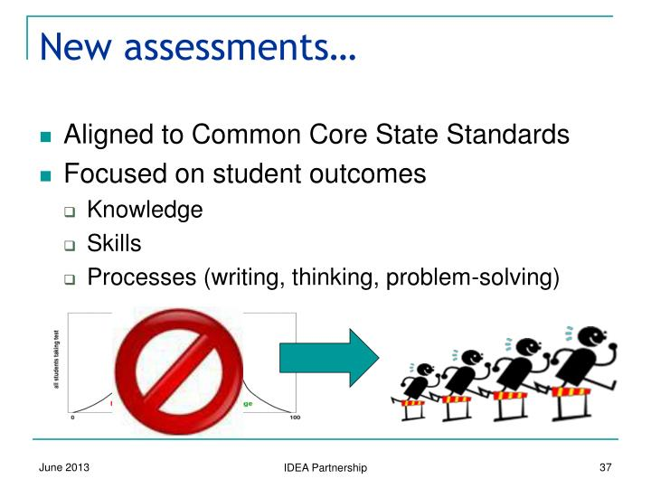 New assessments…