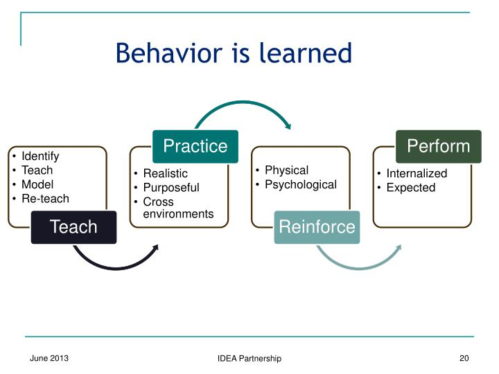 Behavior is learned