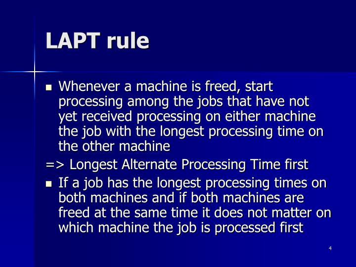 LAPT rule