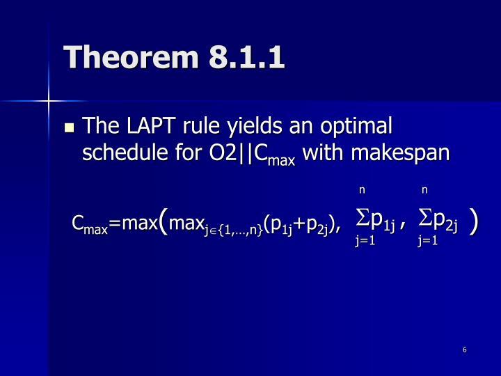 Theorem 8.1.1