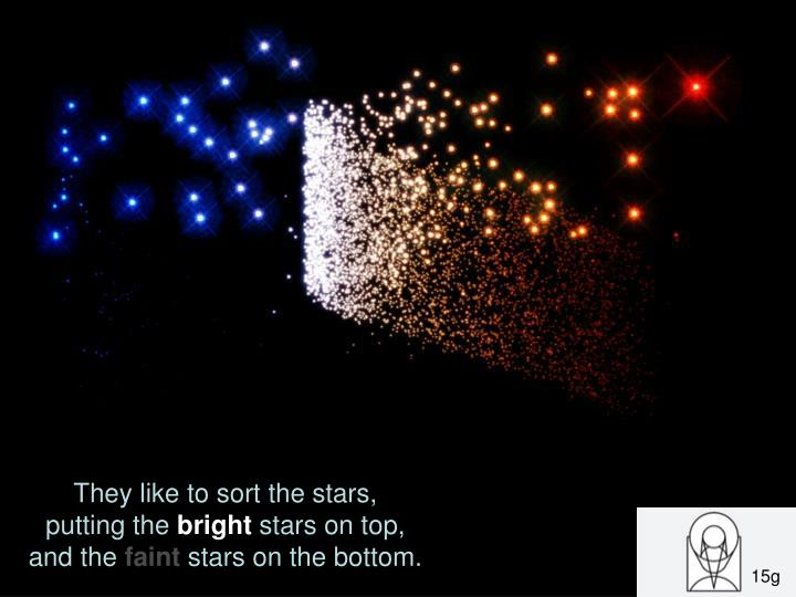 They like to sort the stars,