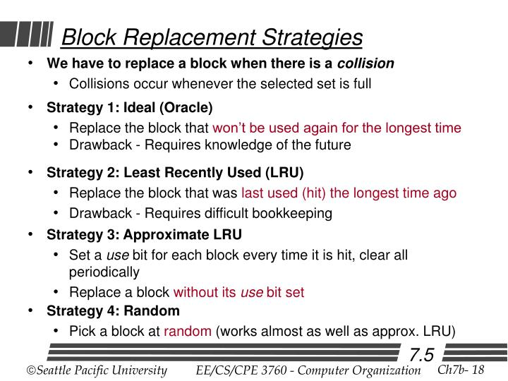 Block Replacement Strategies