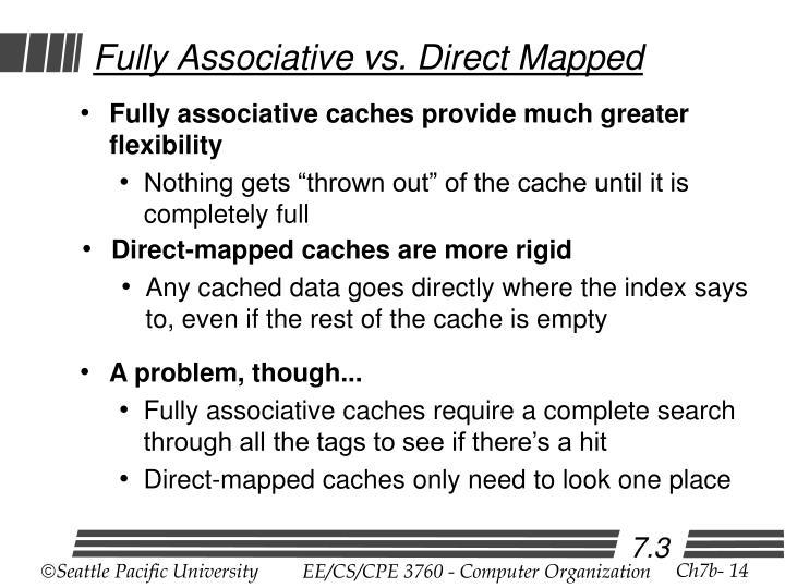 Fully Associative vs. Direct Mapped