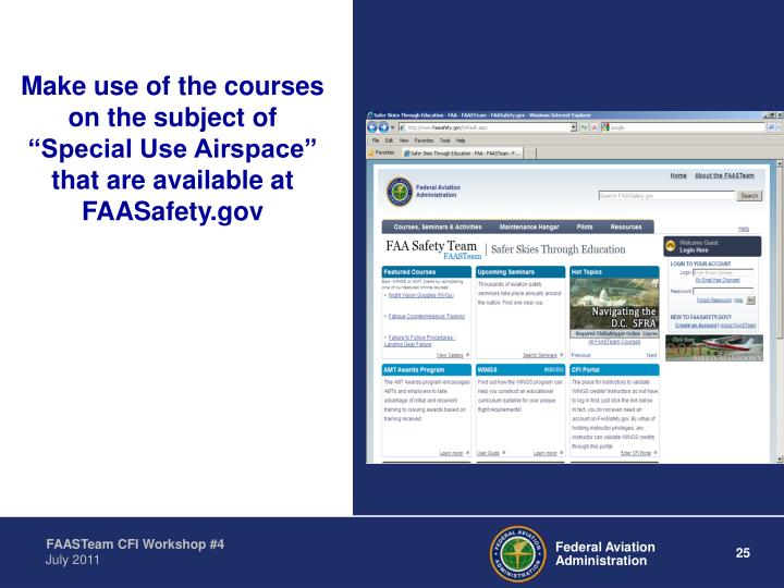 Make use of the courses
