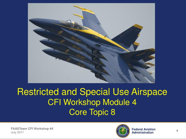 Restricted and Special Use Airspace