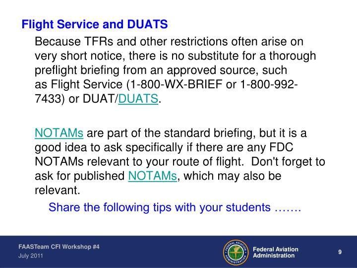 Flight Service and DUATS