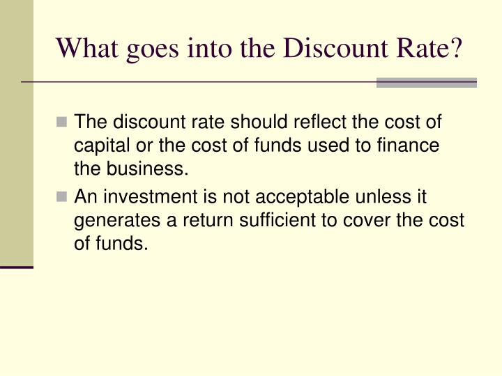 What goes into the Discount Rate?
