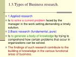 1 3 types of business research