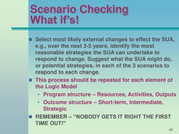 Scenario Checking