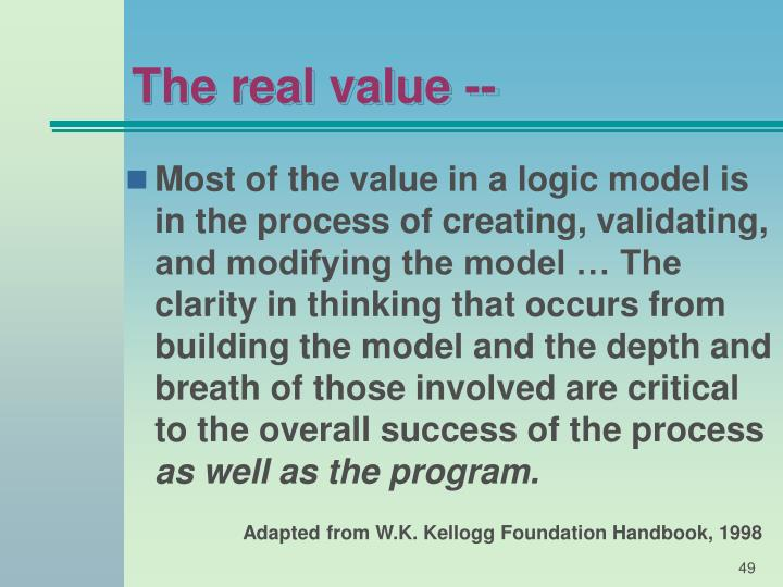 The real value --