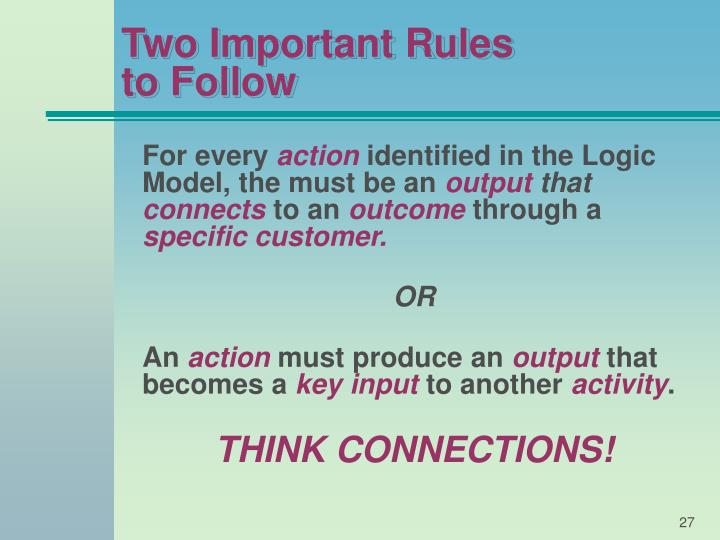 Two Important Rules