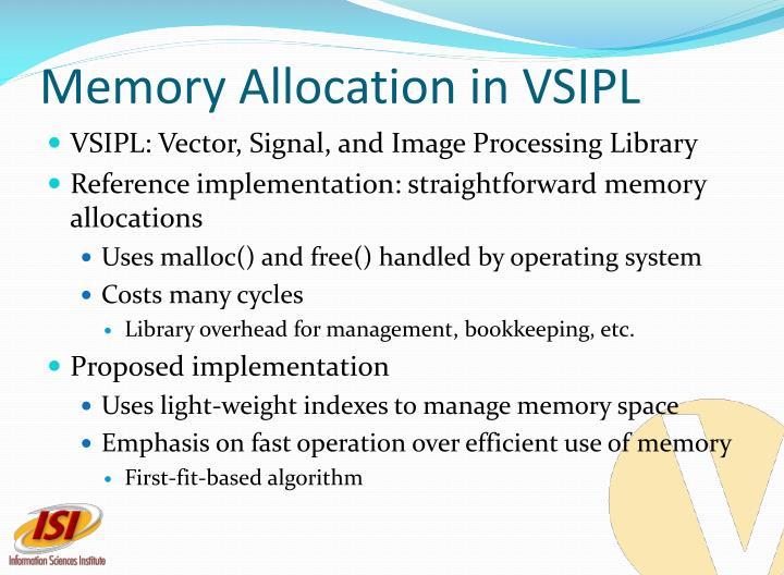 Memory Allocation in VSIPL
