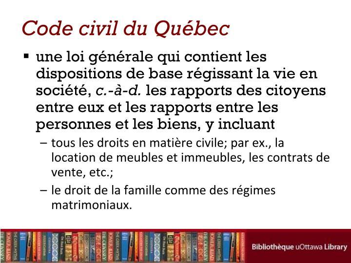 Code civil du Québec