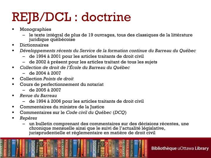 REJB/DCL : doctrine