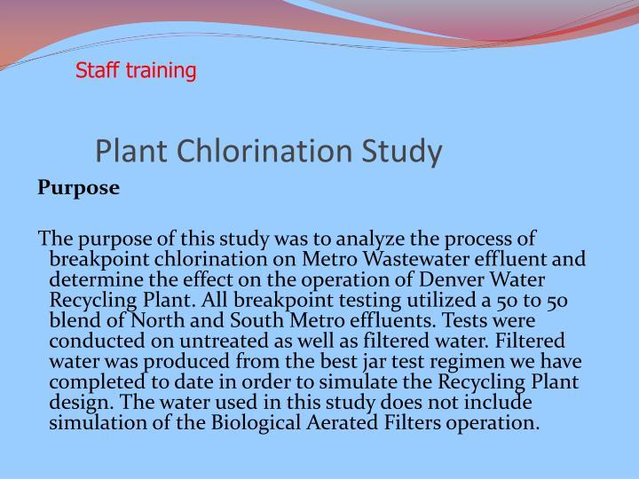 Plant Chlorination Study
