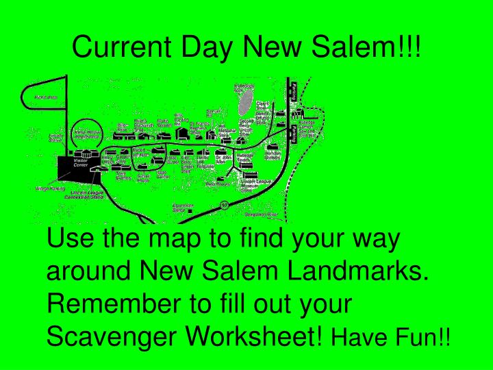 Current Day New Salem!!!