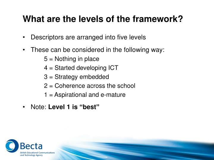 What are the levels of the framework?
