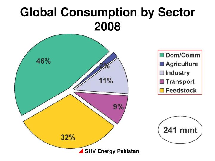 Global Consumption by Sector 2008