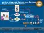 juniper integrated convergence services stage 1 survivable media gateway