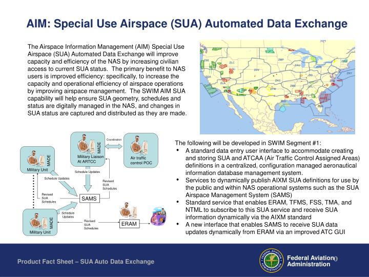 aim special use airspace sua automated data exchange