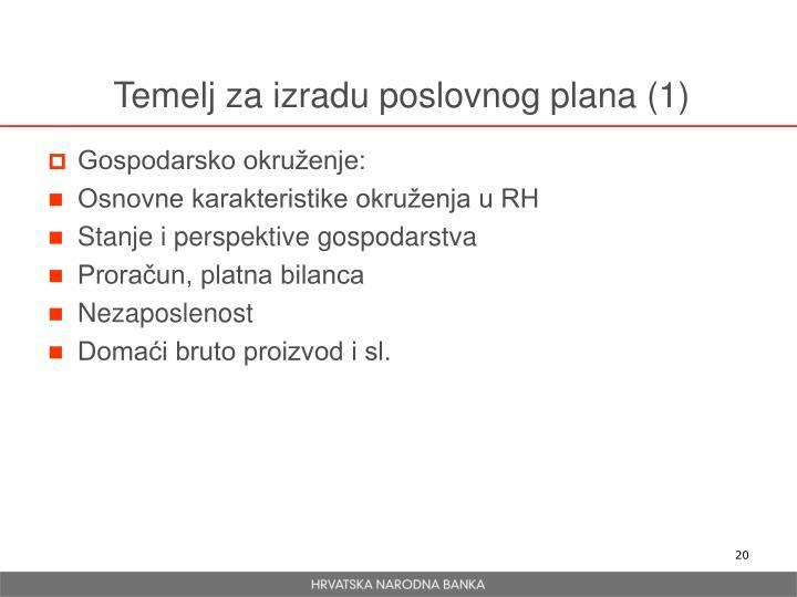 Temelj za izradu poslovnog plana (1)