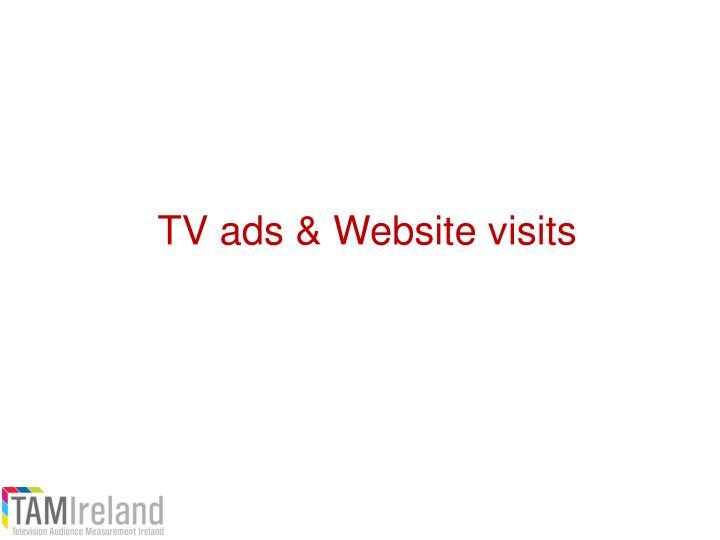 TV ads & Website visits