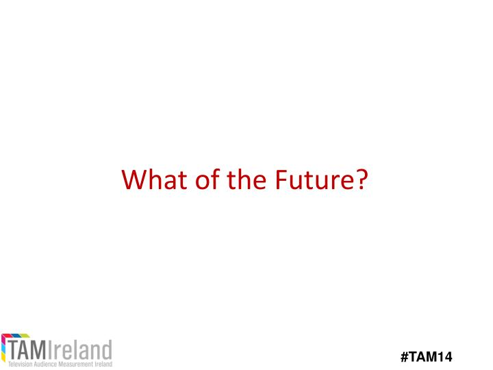 What of the Future?